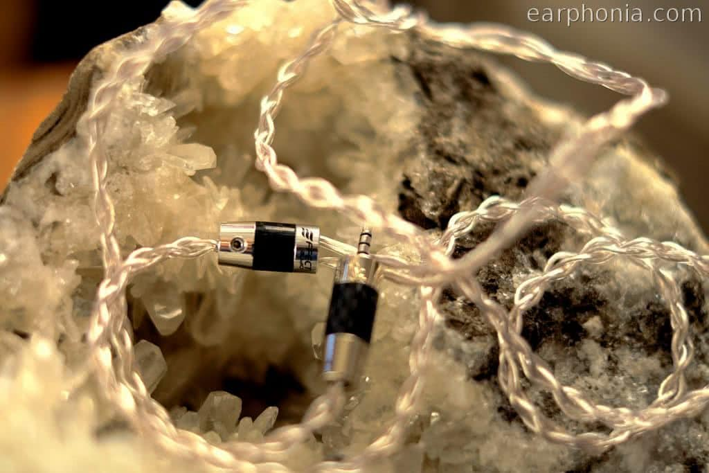 earphonia.com Effect Audio Thor Silver II - IEM Cable - Crystal Geodes Beauty