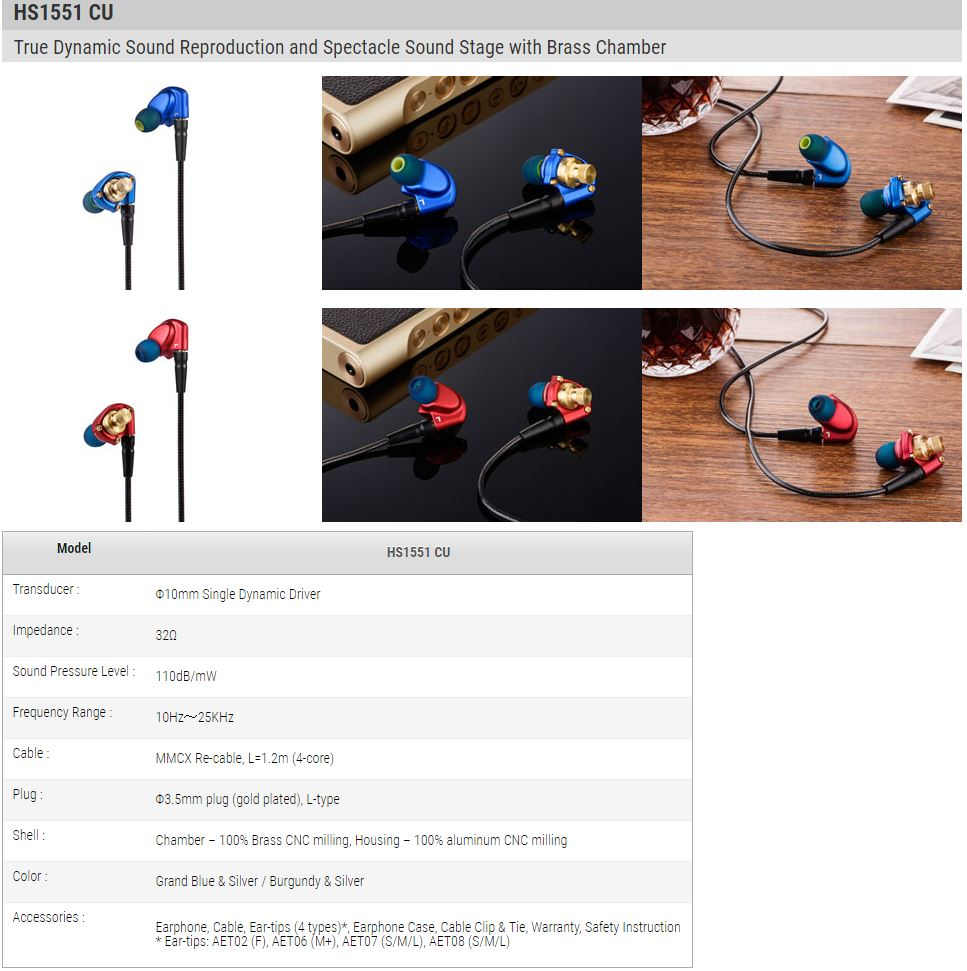 earphonia.com Review -Acoustune HS1501 AL / HS1551 CU